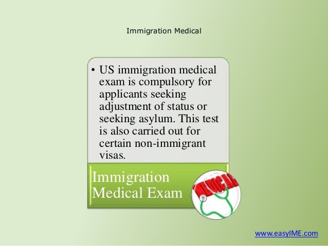 an examination of the immigration to america Toggle navigation alllaw what to expect a the green card medical exam a civil surgeon who has been specially designated by the relevant immigration.