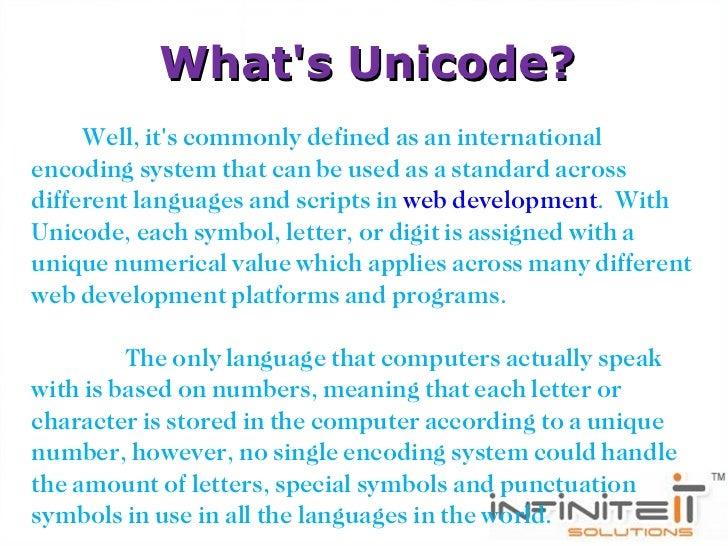 Why Unicode Is Best In Web Development