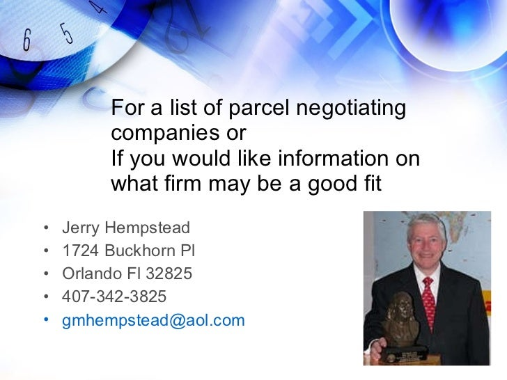 Why Use A Parcel Transportation Consulting Company July 2010