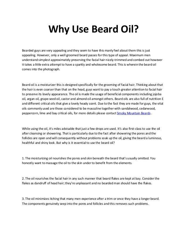 Why Use Beard Oil?