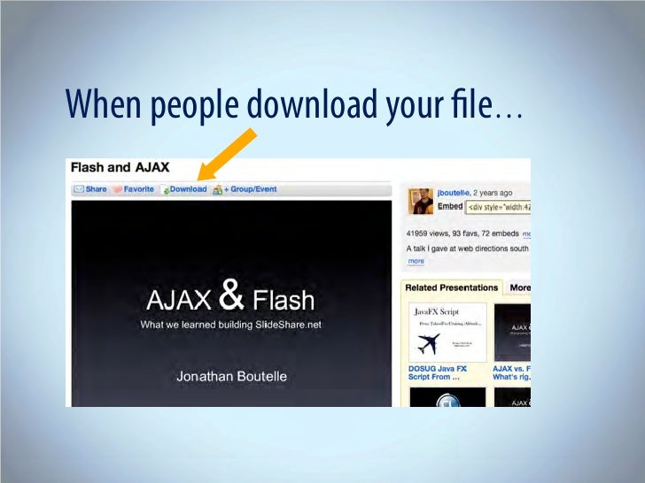 When people download your file…