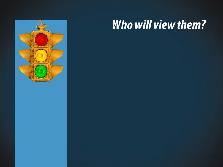 Who will view them?