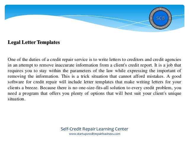Software For Credit Repair Why Using It Is So Important To Your Cre - Credit repair templates