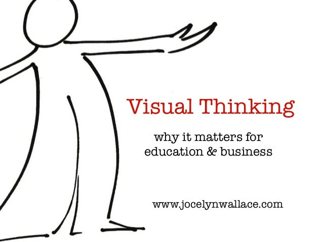 Visual Thinking why it matters for education & business www.jocelynwallace.com