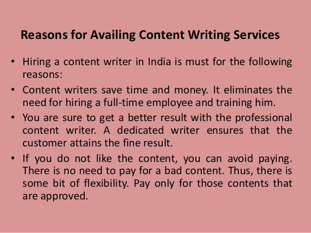 Writing services for professionals