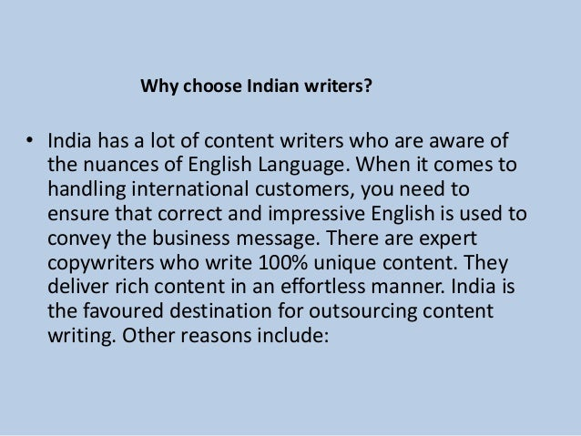 SEO content writer in India