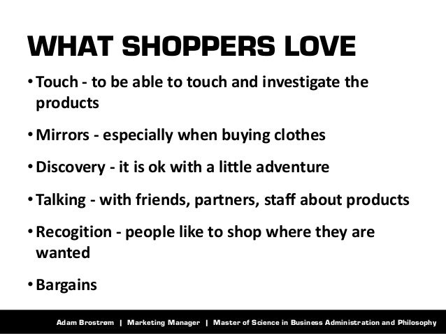Adam Brostrøm | Marketing Manager | Master of Science in Business Administration and Philosophy  WHAT SHOPPERS LOVE  •Touc...