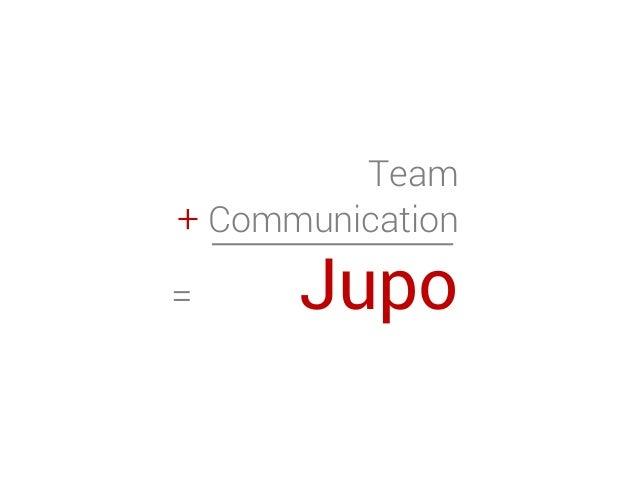 Team + Communication = Jupo
