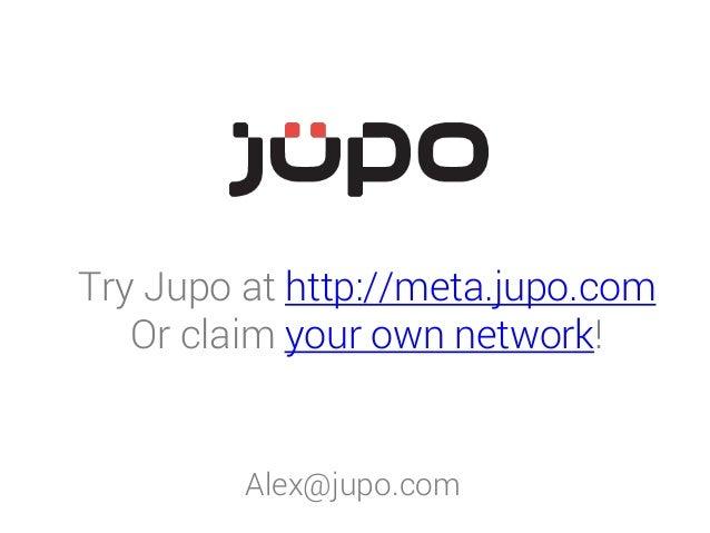 Try Jupo at http://meta.jupo.com Or claim your own network! Alex@jupo.com