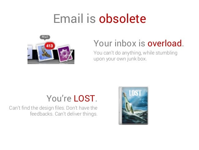 Email is obsolete Your inbox is overload. You can't do anything, while stumbling upon your own junk box. You're LOST. Can'...