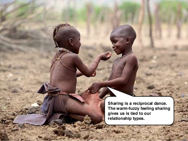 Sharing is a reciprocal dance.                                        The warm fuzzy feeling sharing                      ...