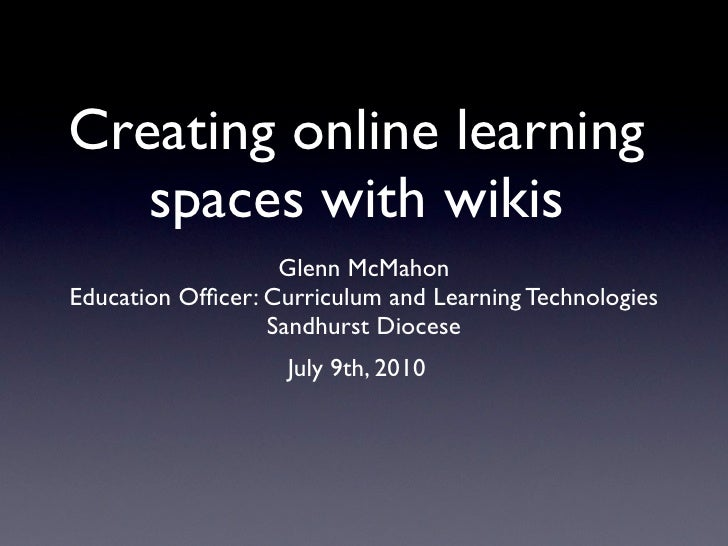 Creating an online space using wikis