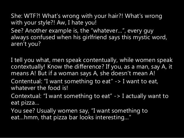 when a man says whatever