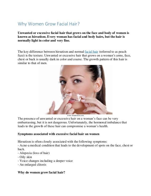 Why women grow facial hair