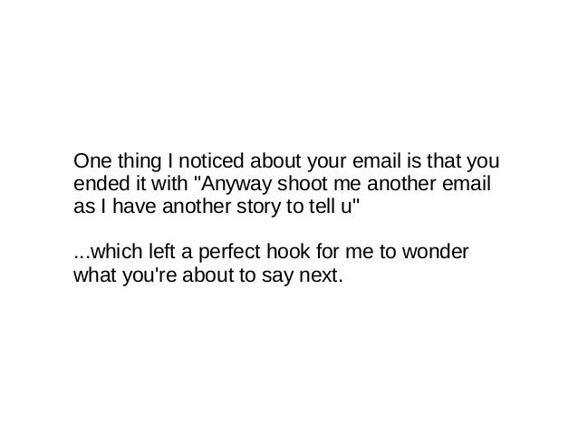 how to email a girl