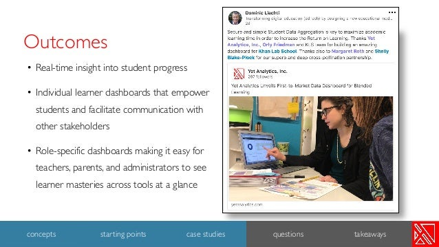 Outcomes • Real-time insight into student progress • Individual learner dashboards that empower students and facilitate co...