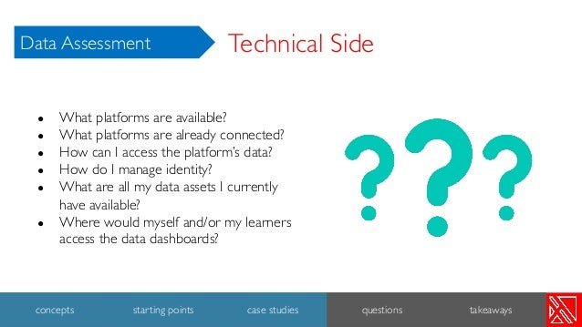 ● What platforms are available? ● What platforms are already connected? ● How can I access the platform's data? ● How do I...