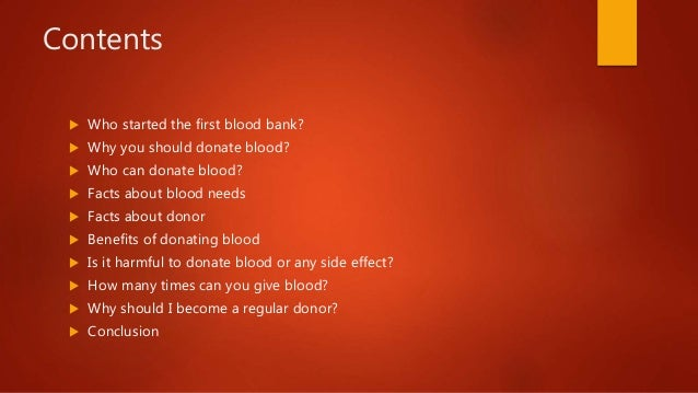 Why you should donate blood?