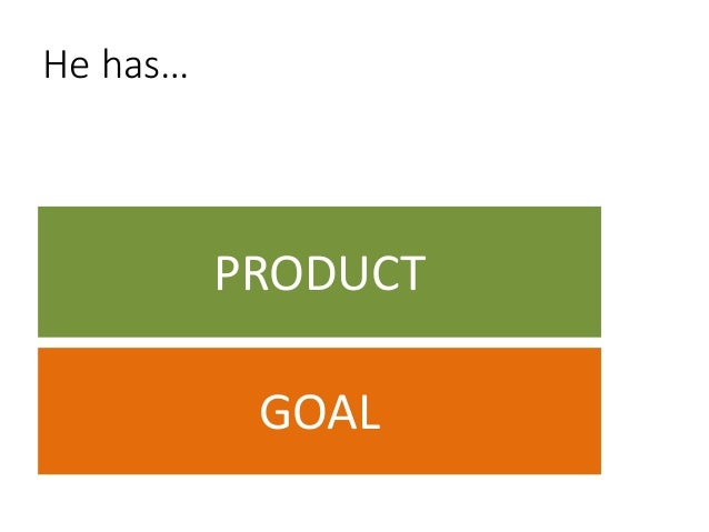 You have…  PRODUCT GOAL  [App]