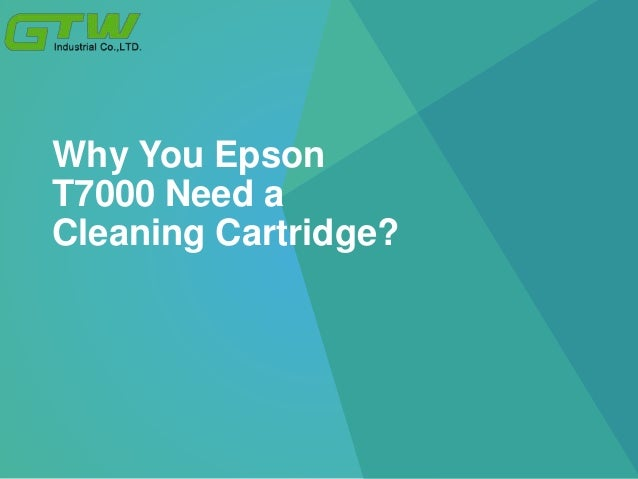 Why You Epson T7000 Need a Cleaning Cartridge?