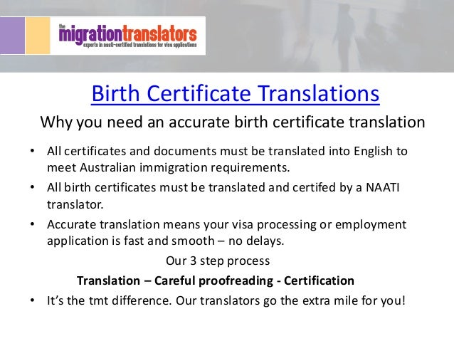 Why you need an accurate birth certificate translation