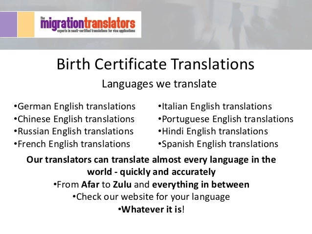 Italian Language Translation To English: Why You Need An Accurate Birth Certificate Translation