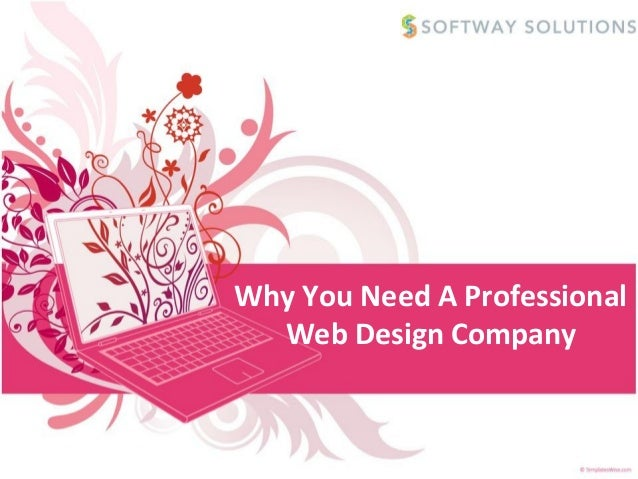 Why You Need A Professional  Web Design Company