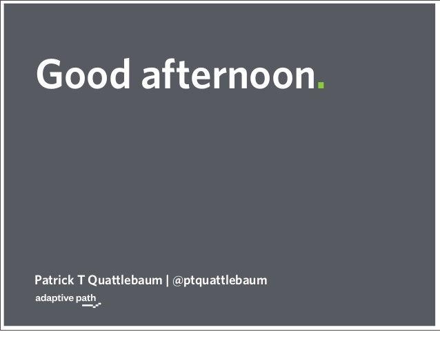 Good afternoon.Patrick T Quattlebaum   @ptquattlebaum