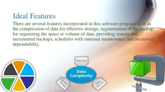 Ideal Features  There are several features incorporated in this software program such as  the compression of data for effe...