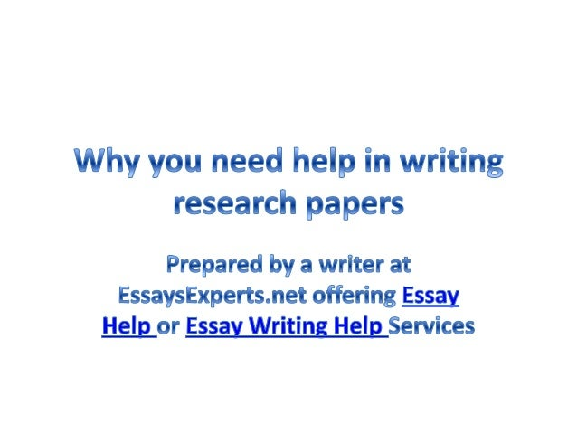 Help i need to write a research paper