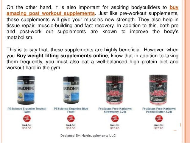 On the other hand, it is also important for aspiring bodybuilders to buy amazing post workout supplements. Just like pre-w...