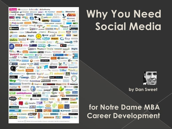 Why You Need  Social Media<br />by Dan SweetMBA Class of 2009<br />for Notre Dame MBA Career Development<br />