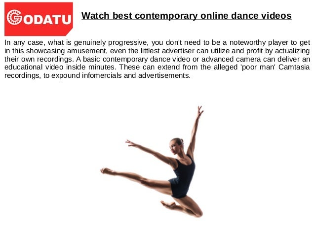 Why you need to watch contemporary dance videos Slide 3