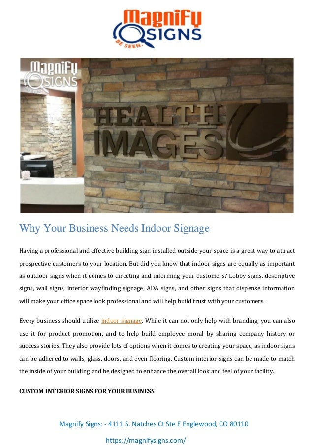 Why Your Business Needs Indoor Signage