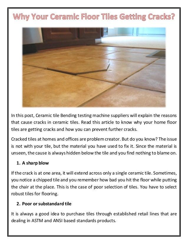 Why Your Ceramic Floor Tiles Getting Cracks