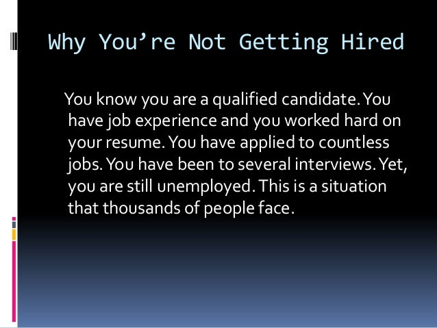 Why you're not getting hired by the barrett group Slide 2