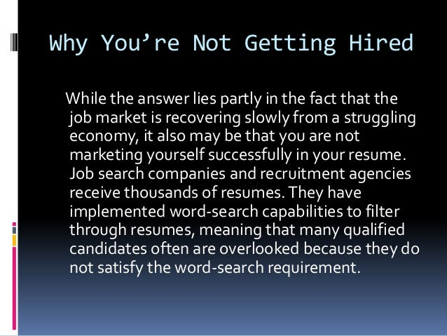 Why you're not getting hired by the barrett group Slide 3