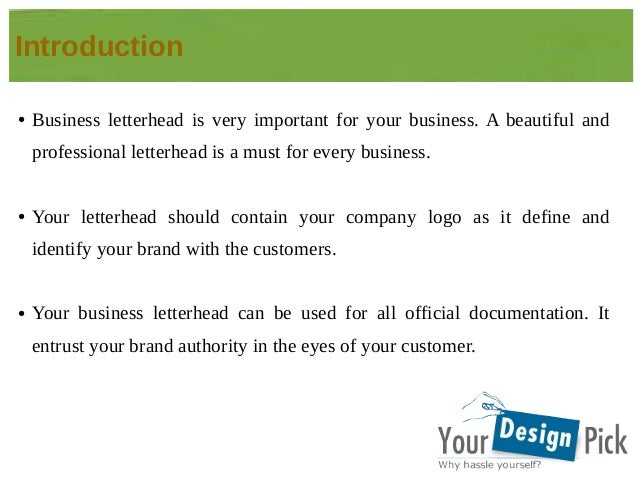 Why Are Letterheads Very Important To A Business