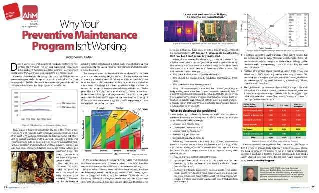 "AhM  ion decisort supp  Why Your Preventive Maintenance Program Isn't Working  ""It isn't what you know that will kill you,..."
