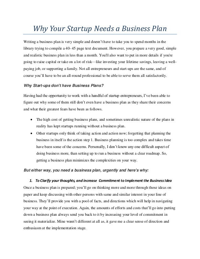 starting up a resume writing business why your start up needs a business plan pdf enoch