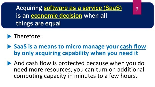 Why you should always choose SaaS and Cloud when you have a choice Slide 3