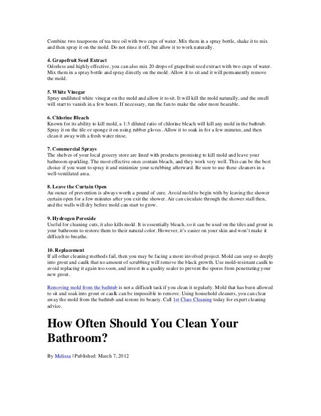 The 1st Class Cleaning Guide to a Spotless Bathroom