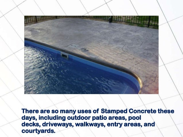 Why you should consider stamped concrete - Why you should consider concrete staining for your home ...