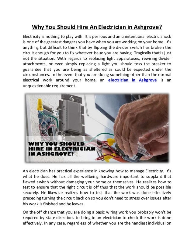 Why you should hire an electrician in ashgrove