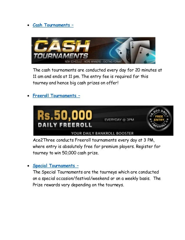 Play Online Rummy Tourneys @ Ace2Three & Win Cash Prizes