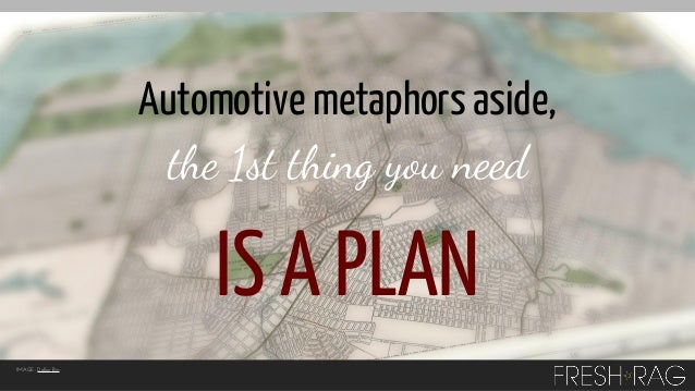 Automotive metaphors aside, the 1st thing you need  IS A PLAN IMAGE: Dollar Bin