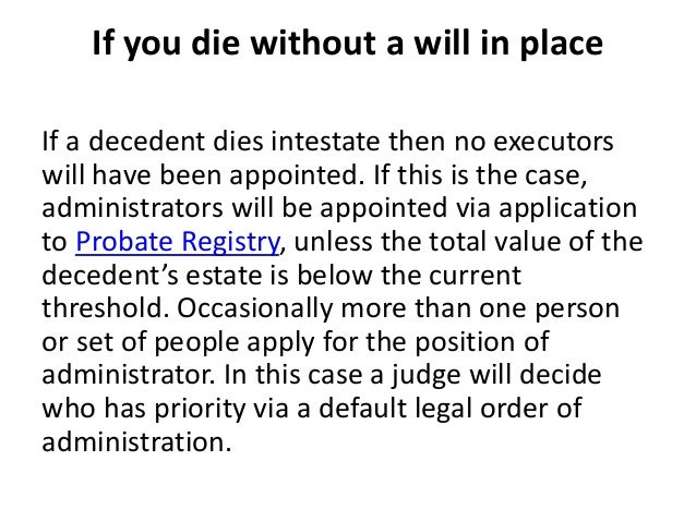 why you should write a will