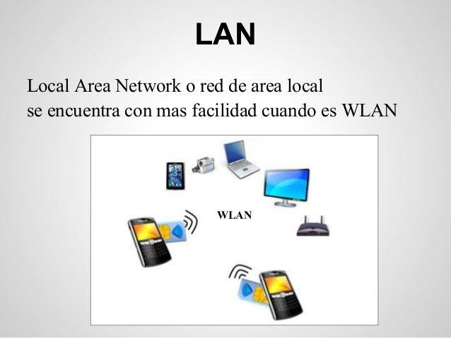 LANLocal Area Network o red de area localse encuentra con mas facilidad cuando es WLAN                       WLAN