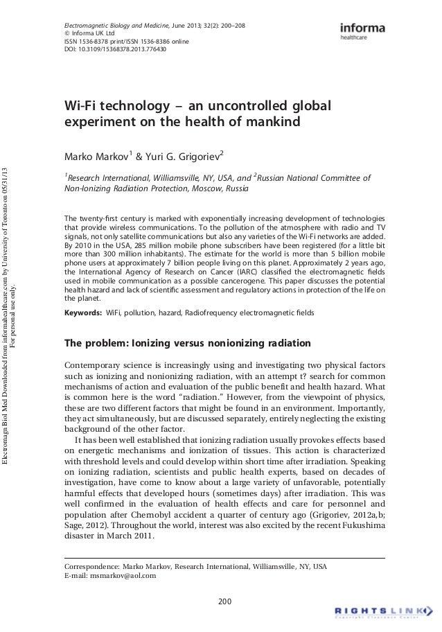 Electromagnetic Biology and Medicine, June 2013; 32(2): 200–208 Q Informa UK Ltd ISSN 1536-8378 print/ISSN 1536-8386 onlin...
