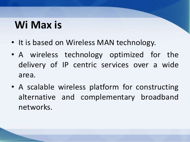 Wimax ppt.